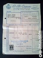FATTURA COMMERCIALE (PUNT MES) - CARPANO, TORINO - 1956 - Italy