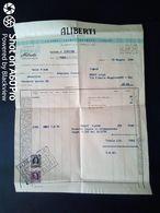 FATTURA COMMERCIALE (VERMOUT) -  INDUSTRIA ENOLOGICA ALIBERTI, CANELLI (ASTI) - 1956 - Italy