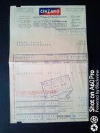 FATTURA COMMERCIALE CINZANO, TORINO - 1956 - Italy