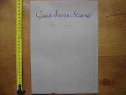 1821 Acte Manuscrit Proces Verbal BORNAGE Grand Chemin De Veronnes TIL CHATEL 21 - Manoscritti