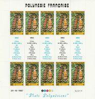 LOT 2062 POLYNESIE N° 295-296 FEUILLE DE 10 EX ** - Polinesia Francese