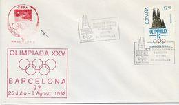 3534  Carta  Barcelona  1992, Olimpiadas XXV , Filatelia Olimpica Y Deportiva OLYMPHILEX - 1991-00 Briefe U. Dokumente