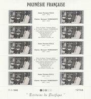 LOT 2065 POLYNESIE N° 297-298  FEUILLE DE 10 EX ** - Polinesia Francese