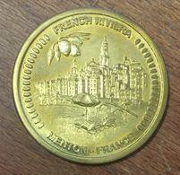 06 MENTON FRENCH RIVIERA AMMF MÉDAILLE SOUVENIR 45MM JETON TOURISTIQUE MEDALS TOKENS COINS - Turistici