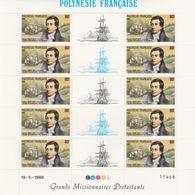 LOT 2066 POLYNESIE N° 318-319-320  FEUILLE DE 10 EX ** - Polinesia Francese