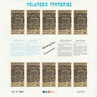 LOT 2067 POLYNESIE N° 347-348-349  FEUILLE DE 10 EX ** - Polinesia Francese