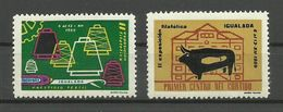 IGUALADA 1959 / II. Exposioion Filatélica / 2 Poster Stamp Label Vignette Cinderella ( * ) - 1931-Heute: 2. Rep. - ... Juan Carlos I