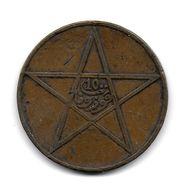 (Monnaies). Maroc. Morocco.  10 Mazynas 1330 - Morocco