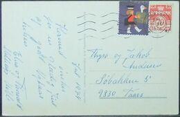 Denmark - Postcard 1972 Definitive 70o Solo Cinderella - Denmark