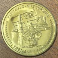 35 SAINT-MALO CITÉ CORSAIRE BRETAGNE AMMF MÉDAILLE SOUVENIR 45 MM JETON TOURISTIQUE MEDALS TOKENS COINS - Turistici