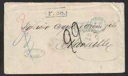 1868 ENTIRE  RUSSIA RUSSLAND UKRAINE - ODESSA To MARSEILLE ( 14 JUILLET ) - AUS RUSSLAND - 1857-1916 Empire