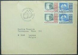 Denmark - Cover To Belgium FDC 1980 Silver Tankard - Denmark