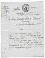 Document Période Révolutionnaire AN 9 BORDEAUX GIRONDE LE COMMISSAIRE DE POLICE Belle Vignette - Historical Documents