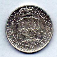 SAN MARINO, 10 Lire, Silver, Year 1932, KM #10 - San Marino