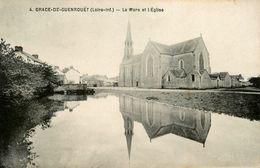 Grace De Guenrouet * La Mare Et L'église * Abreuvoir - Guenrouet
