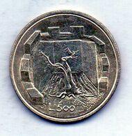 SAN MARINO, 500 Lire, Silver, Year 1976, KM #58 - San Marino