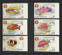 Yemen Royaume (kingdom) - 4028/ N° 397 / 402 B Poissons (Fish) On Dentelé (non Dentelé Imperf) ** MNH - Vissen