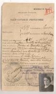 1940 SAUF CONDUIT PROVISOIRE / COURBEVOIE LEVALLOIS A POUILLY EN AUXOIS EN TRAIN / GENDARMERIE  C925 - Historical Documents