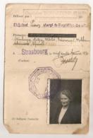 1940 GENDARMERIE  DE STRASBOURG / AUTORISATION DE PRENDRE DES VEHICULES BATEAUX  AFFECTES A UN TRANSPORT PUBLIC C926 - Historical Documents