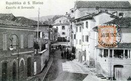 San Marino - Castello Di Serravalle (CP Animée Circulé 1925) - San Marino