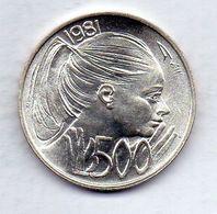 SAN MARINO, 500 Lire, Silver, Year 1981, KM #126 - San Marino
