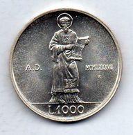 SAN MARINO, 1.000 Lire, Silver, Year 1987, KM #210 - San Marino