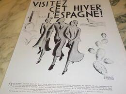 ANCIENNE PUBLICITE VISITEZ L ESPAGNE 1930 - Publicités