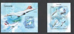 TG427 2014 TOGO TOGOLAISE TRANSPORT AVIATION CONCORDE KB+BL MNH - Concorde