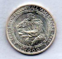 SAN MARINO, 1.000 Lire, Silver, Year 1992, KM #287 - San Marino
