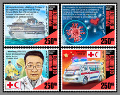 DJIBOUTI 2020 MNH Li Wenliang Virus Doctor Coronavirus 4v - OFFICIAL ISSUE - DHQ2020 - Disease