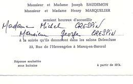 08 - 2020 - NORD - 59 - MARCQ EN BAROEUL - Carton D'invitation Du Salon Delescluses - Marcq En Baroeul