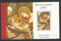 PALESTINE - MNH - Art - Painting - Religious - Christmas 1999 - Brochure - Religión