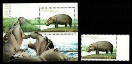(027-28) Guinea Bissau  Animals / Animaux / Hippo / Flusspferd ** / Mnh  Michel 2007 + BL 376 - Guinea-Bissau