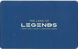 TURCHIA  KEY HOTEL   The Land Of Legends Theme Park - Belek - Chiavi Elettroniche Di Alberghi
