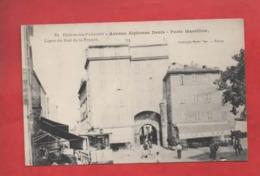 CPA  - Hyères Les Palmiers - Avenue Alphonse Denis - Porte Massillon - Ligne Du Sud De La France - Hyeres