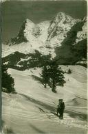 SWITZERLAND -MURREN - BERNER OBERLAND - SKILIFT MAULERHUBEL - WINTER SPORT - SKI / SCI - 1950s ( BG9379) - BE Bern