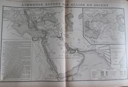GUERRE 14-18  Carte Du Front  L Effort Des Alliés En ORIENT Asie - Documenten