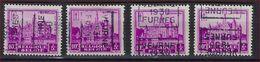 Zegel Nr. 308  Voorafstempeling Nr. 5996 VEURNE 1930 FURNES In De 4 Posities , A  B  C  En D ; Staat Zie Scan ! - Precancels
