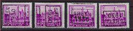 Zegel Nr. 308  Voorafstempeling Nr. 5961 GHEEL 1930  In De 4 Posities , A  B  C  En D ; Staat Zie Scan ! - Precancels