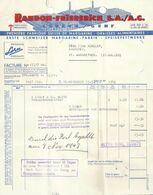 "Rechnung  ""Randon-Friederich, Fabrique De Margarine, Genève""          1943 - Schweiz"