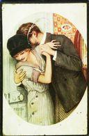 CPA Illustration Raphael  Kirchner Couple Dans Les Petits Cheveux Du Cou - Kirchner, Raphael