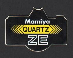 Stikers Mamiya Quartz ZE Japan Tokio Photography Cameras Fotografia Fotocamere Photographie Appareils Photo FAS00065 - Sammelbilder, Sticker