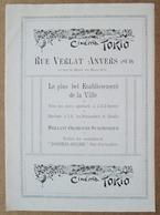 Cinéma Tokio Rue Verlat Anvers / Otter-Club D'Anvers - Société De Natation ..voir Description - Publicités