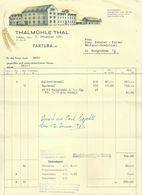 """Rechnung  """"Thalmühle Thal""""          1950 - Schweiz"""