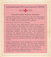 SCHWEIZ  --  LOT   --  MERKBLATT SRFW, SCHWEIZERISCHE RETTUNGSWACHT,  GARDE AERIENNE SUISSE DE SAUVETAGE  --  RED CROSS, - Historical Documents