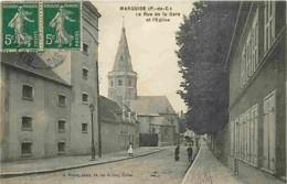 62 - Marquise - La Rue De La Gare Et L'Eglise - Animé - Ecrite En 1912 - CPA - Voir Scans Recto-Verso - Marquise
