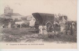 CPA Saintes-Marie (pour Maries) - Campement De Bohémiens (joli Plan) - Saintes Maries De La Mer