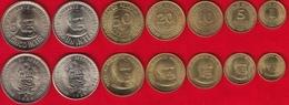 Peru Set Of 7 Coins: 1 Centimo - 5 Intis 1985-1988 UNC - Pérou