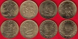 San Marino Set Of 4 Coins: 200 Lire 1991-1997 UNC - San Marino