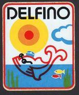 Stikers Delfino Abbigliamento Sportivo Sportswear Dolphin Vêtements De Sport Dauphin FAS00068 - Sammelbilder, Sticker